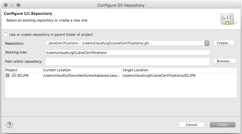 Configure your GIT repository in Eclipse