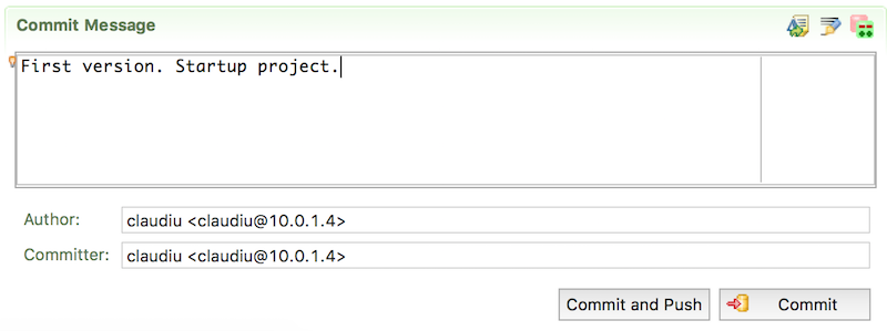 eGit in Eclipse - Commit and Push