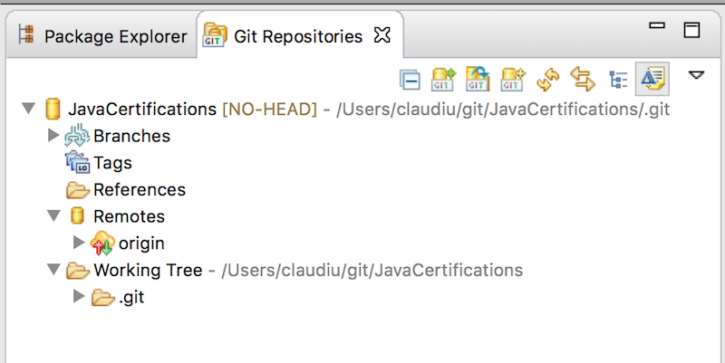 Git repository in Eclipse