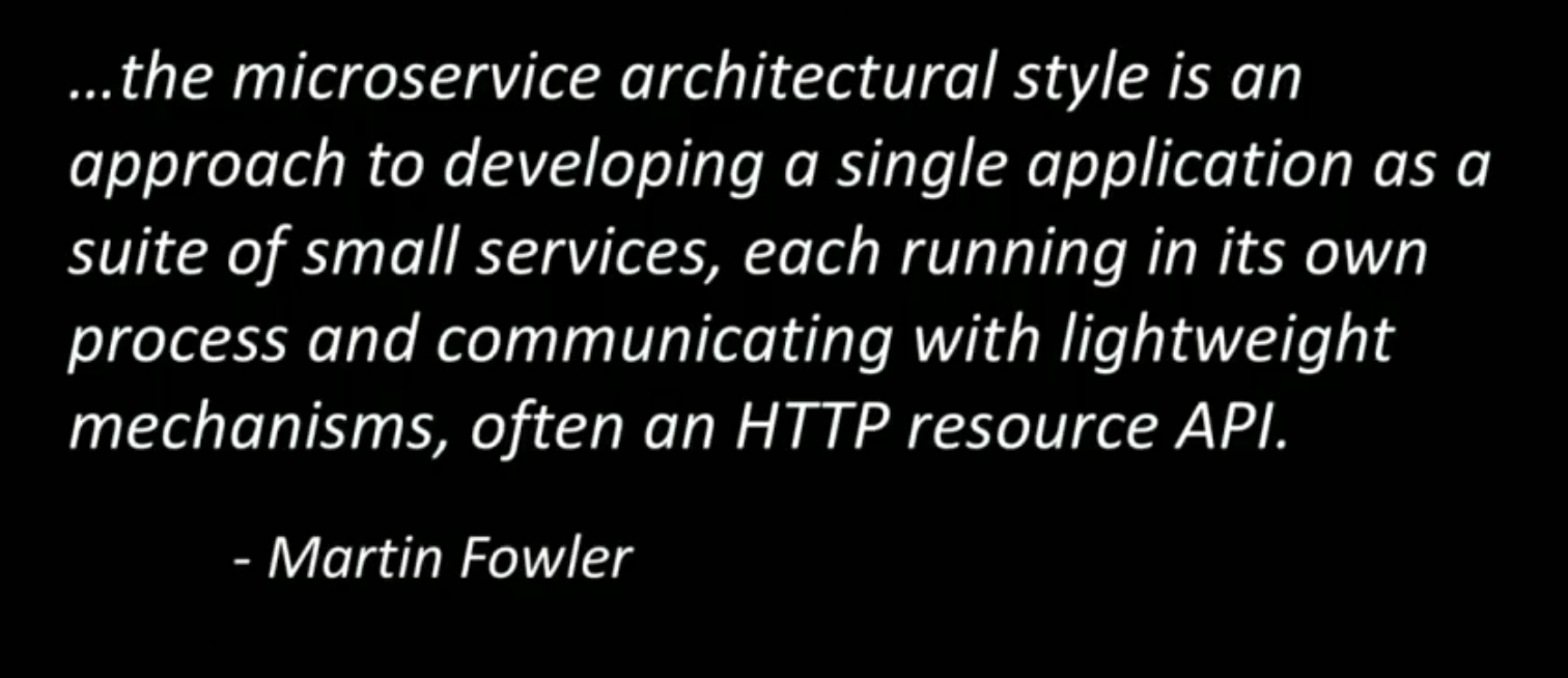 Microservice definition by Martin Fowler